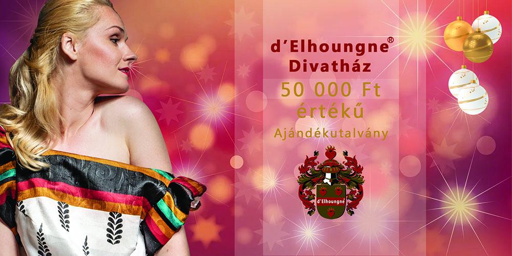 d'Elhoungne 50000 Ft-os ajándékutalvány